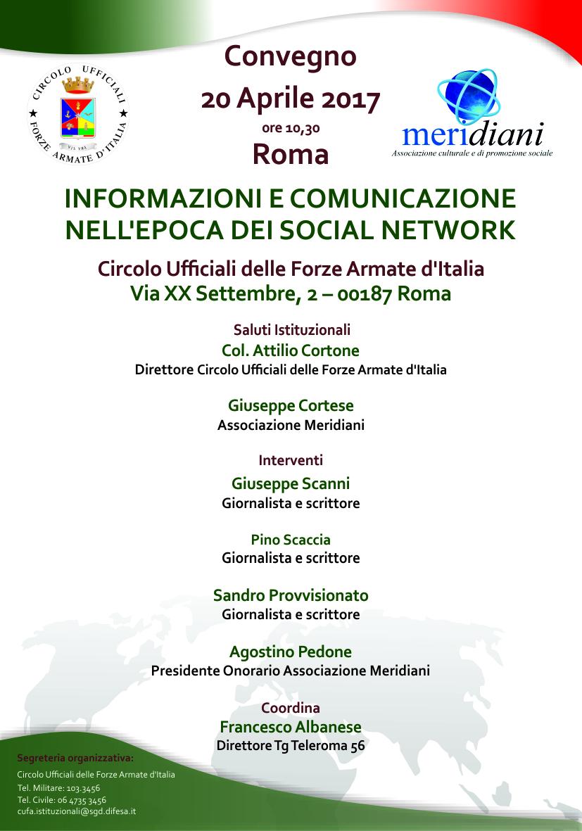 Associazione Meridiani organizza convegno a Roma